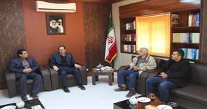 نشست کاری فرماندار با مدیران شرکت راهسازی ریبار